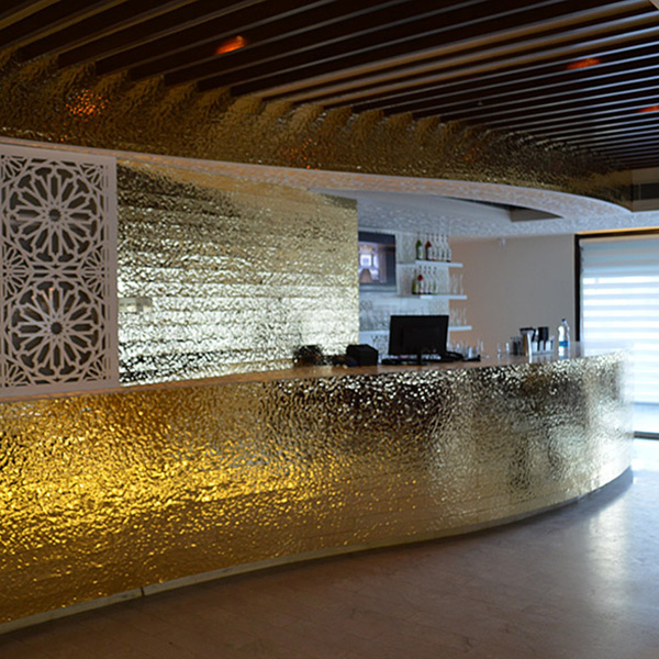 HOMAPAL dekorlemez Alu Polished LAVA Goldtone 471/636 Restaurant, New Delhi